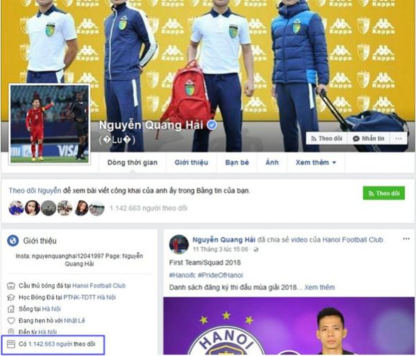 Top 6 Facebook của U23 có lượt theo dõi khủng nhất - 8