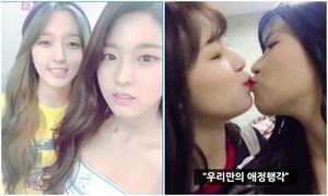 4 khoảnh khắc idol nữ chạm môi gây tranh cãi