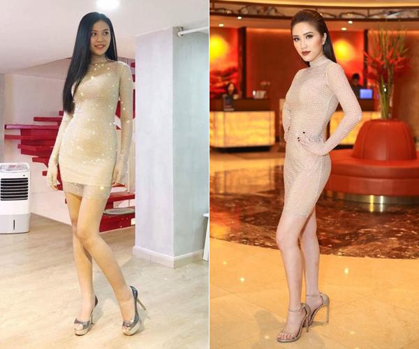 Hòa Minzy bắt chước may váy giống hệt Hương Giang - 3