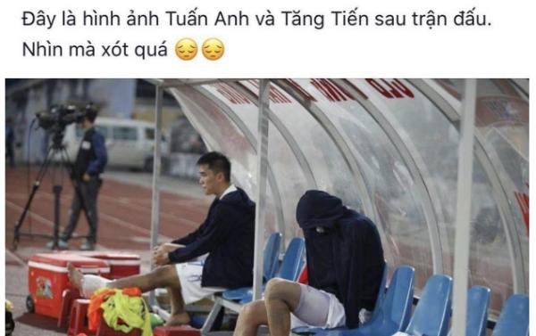 Fan xót xa nhìn Tuấn Anh đau đớn sau cú chấn thương.