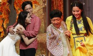 Những cảnh tình tứ của Trường Giang - Nam Em trước hàng triệu khán giả