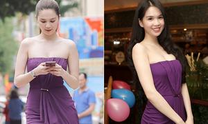 Ngọc Trinh bị chê sến khi 'nổi hứng' mặc lại váy 5 năm trước