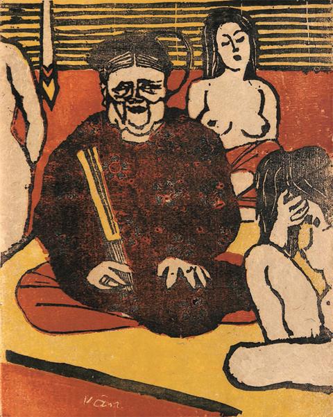 Tranh minh họa truyện Kiều của họa sĩ Tô Ngọc Vân.