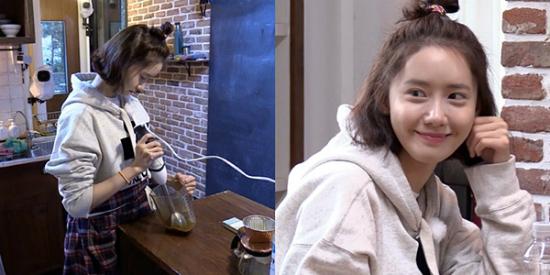 Yoon Ah đang gây sốt trên show thực tế.