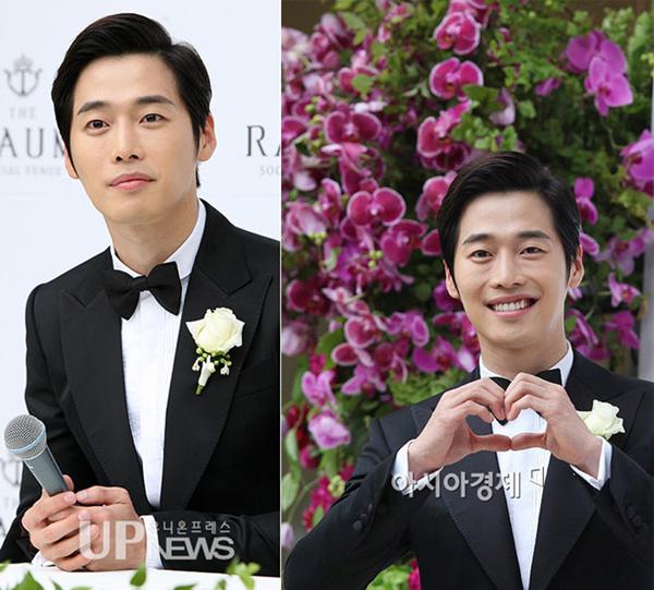 Hoàng tử nụ cười Kim Jae Won rạng rỡ trong ngày cưới.