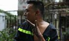Bàn tay tuột da vì bỏng của chiến sĩ PCCC trong vụ cháy lớn ở Sài Gòn gây xót xa