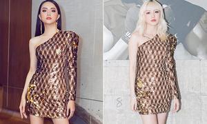 Hương Giang hậu đăng quang: Mặc váy nào đụng hàng váy đó