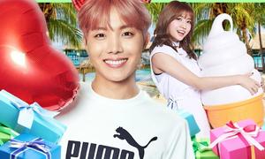 101 kiểu phản ứng của idol Hàn khi được fan tặng quà
