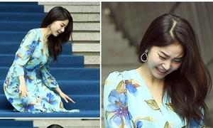 Nữ diễn viên ngã vẫn 'khí chất' ở Seoul Fashion Week