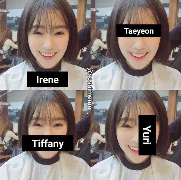 Irene trông giống nhiều thành viên trong SNSD.