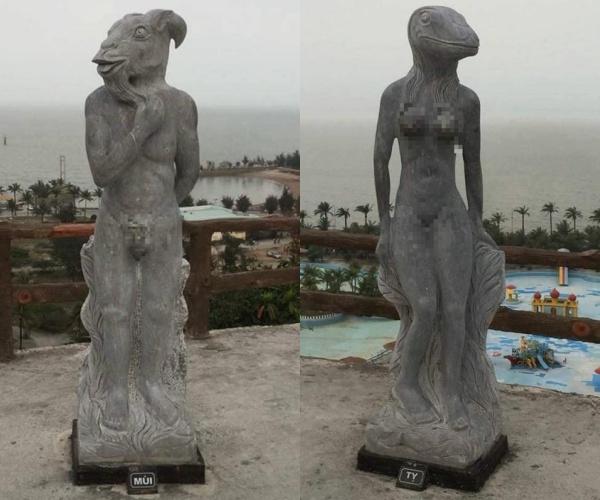 Một số cho rằng những bức tượng mang tính phồn thực nhưng không ít người nhận xét nó phản cảm.