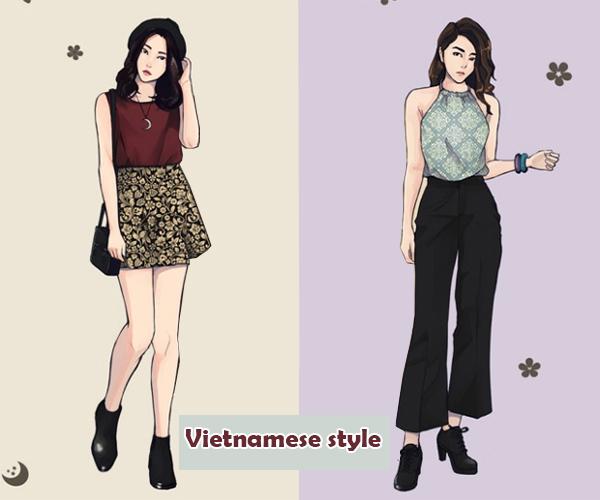 Style hè đặc trưng của teen Hàn, Nhật, Việt, Mỹ khác nhau thế nào? - 9