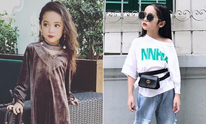 Style 'lớn sớm' khó tin của 'chân dài' 7 tuổi hot nhất Việt Nam