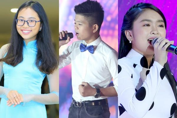 Các giọng ca nhí được phát hiện tại Giọng hát Việt Nhí.
