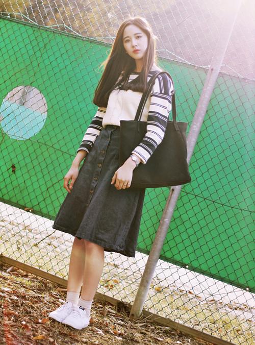 3 kiểu chân váy xinh yêu nữ sinh Hàn chuộng nhất khi đi học - 6