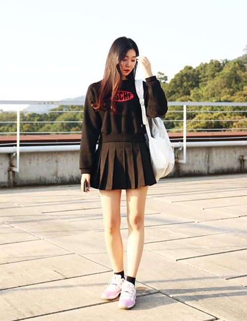 3 kiểu chân váy xinh yêu nữ sinh Hàn chuộng nhất khi đi học - 9