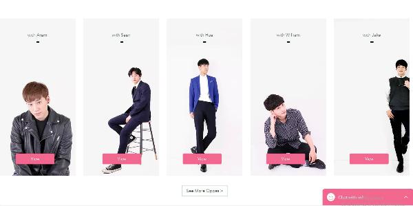 Trang web của Oh my Oppa cung cấp đầy đủ thông tin, hình ảnh và lịch trìnhcủa mỗi chàng trai để du khách lựa chọn.