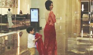 Thu Minh lần đầu để lộ rõ mặt con trai sau 3 năm 'úp mở'