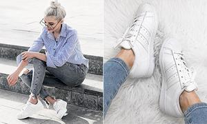 3 đôi sneakers trắng tinh nhìn là muốn sắm ngay vào tủ giày