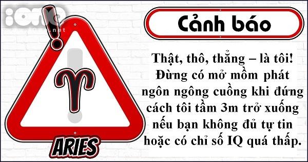 Slogan cảnh báo thể hiện khí chất của 12 cung hoàng đạo