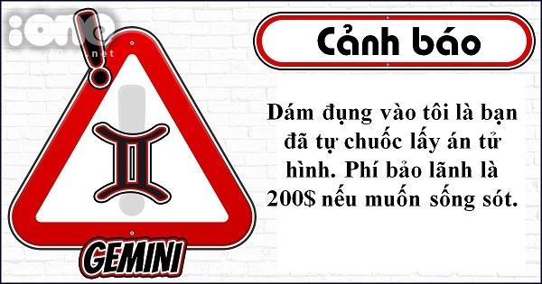 Slogan cảnh báo thể hiện khí chất của 12 cung hoàng đạo - 2