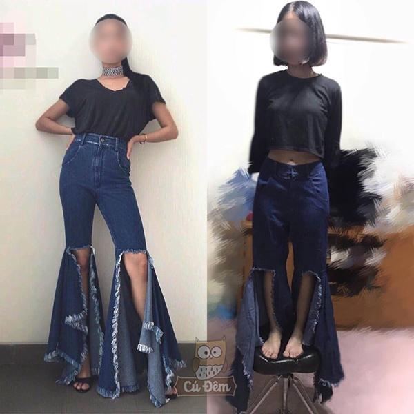 Loạt ảnh chứng minh quần áo online không có lỗi, lỗi ở chiều cao