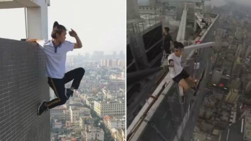 Wu gặp tai nạn khi cố gắng kiếm tiền bằng những video quay trên cao.
