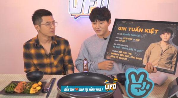 Tối qua, nam ca sĩ Gin Tuấn Kiệt nhận lời mời tham gia chương trình The U.F.O mùa hai. U.F.O là từ viết tắt của Unique - Foreign - Oustanding (Độc - Nước ngoài - Không bình thường). Chương trình được phát sóng lần đầu tiêntrên kênh V Việt Nam của V Live vào đầu tháng 12/2017, với người dẫn chương trình là chàng trai Hàn Quốc - Woossi.