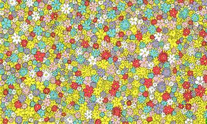 Mắt bạn có đủ tinh để tìm thấy con ong giữa rừng hoa?