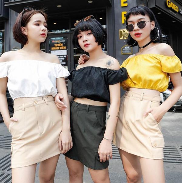 Bộ ba hot girl tóc ngắn Sài thành không cao vẫn mặc đẹp long lanh