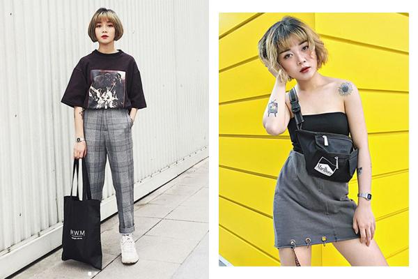 Bộ ba hot girl tóc ngắn Sài thành không cao vẫn mặc đẹp long lanh - 10