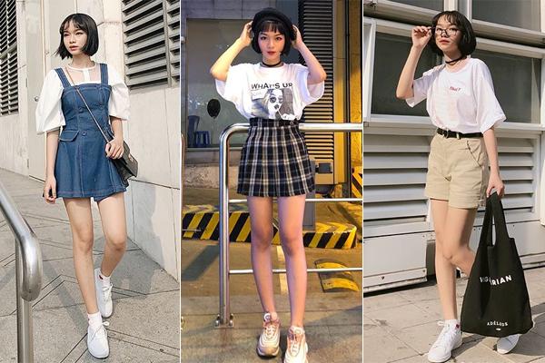 Bộ ba hot girl tóc ngắn Sài thành không cao vẫn mặc đẹp long lanh - 5