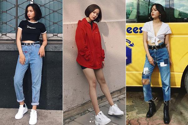Bộ ba hot girl tóc ngắn Sài thành không cao vẫn mặc đẹp long lanh - 8
