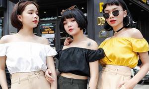 Bộ ba 'hot girl tóc ngắn' Sài thành không cao vẫn mặc đẹp long lanh