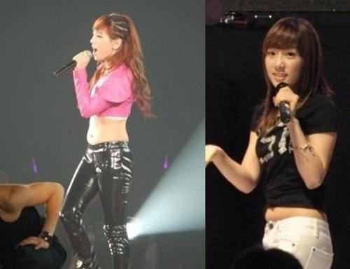 Trong concert riêng, Tae Yeon lần đầu tạo sự đột phá khi biểu diễn solo, mặc áo khoe bụng. Tuy nhiên cô nàng lộ vùng bụng mỡ, trở thành trò cười cho anti-fan. Thời điểm quảng bá Gee, SNSD phải mặc áo lộ eo, quần skinny, Tae Yeon từng bị chụp lại ảnh lộ bụng mỡ.