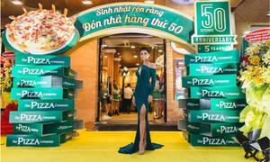 Hoa hậu H'Hen Nie quyến rũ dự sinh nhật The Pizza Company