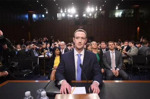 Lần mặc vest hiếm hoi của Mark Zuckerberg.