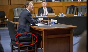 Ông chủ Facebook kê thêm đệm cao 10 cm trong phiên điều trần
