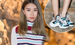 Quỳnh Anh Shyn mặc váy sexy với sneakers 'thô kệch' đi tiệc