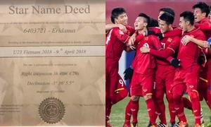U23 Việt Nam được fan 'hái' cả sao trên trời tặng