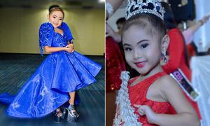 'Hoa hậu nhí' đánh hông catwalk điệu nghệ trên giày cao 20 cm