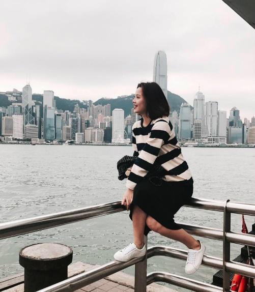Thùy Linh rất mê chụp ảnh.