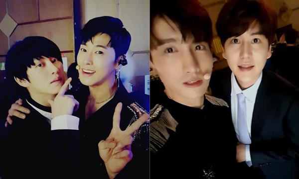 Hai đôi bạn thân nổi tiếng nhà SM là Hee Chul - Yun Ho và Chang Min - Kyu Hyun thể hiện tình cảm thân thiết giữa 2 nhóm nhạc TVXQ và Super Junior.