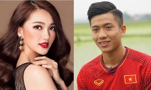 Top 10 Hoa hậu Hoàn vũ 2017 phủ nhận tin đồn hẹn hò hot boy U23