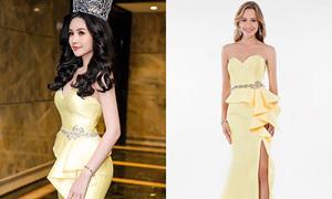 Hoa hậu Đại dương bức xúc vì váy hiệu mua ở Mỹ bị chê 'sến sẩm'