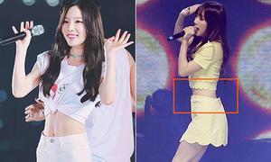 Tae Yeon eo bé đến mức mặc váy nào cũng không vừa