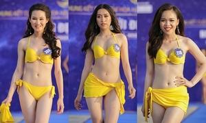 Nhiều thí sinh Hoa hậu biển kém sắc khi tập dượt bikini
