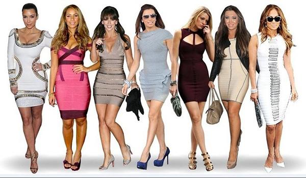 Tín đồ thời trang hẳn không còn xa lạ với Hervé Leger - hãng thời trang ra đời từ năm 1985với dòng váy bandagehuyền thoại. Có tên là bandage dress (váy băng quấn) nên kiểu váy này được lấy cảm hứng từ những dải vải quấn nhiều vòng, ôm sát cơ thể. Các sao Hollywood rất ưa chuộng món đồ này vì nó giúp tôn lên đường cong tối đa.