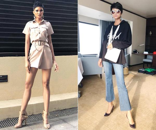 Ít ai nghĩ những bộ cánh sành điệu này đều được Hoa hậu sắm từ các hãng thời trang dành cho giới trẻ với mức giá chỉ xấp xỉ 1 triệu đồng.