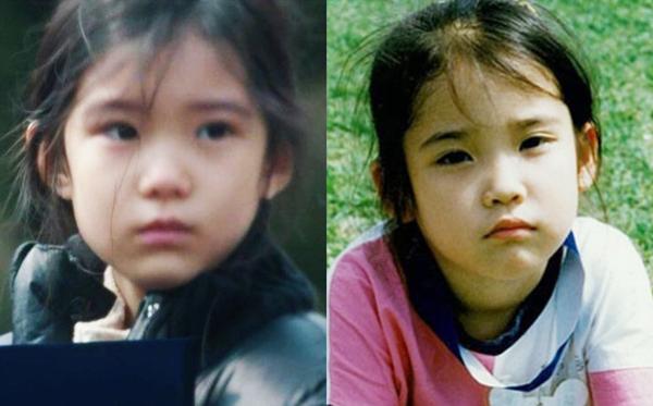 Kim Gyu Ri (trái) có diện mạo rất giống IU hồi nhỏ.